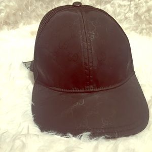 Gucci Nylon Coated Baseball Hat. Black size M